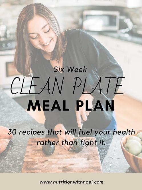 Six Week Digital Meal Plan