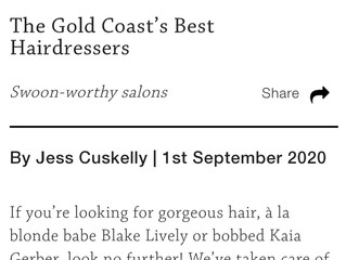 """Gold Coast's Best Hairdressers"" 2020 by Style Magazine"