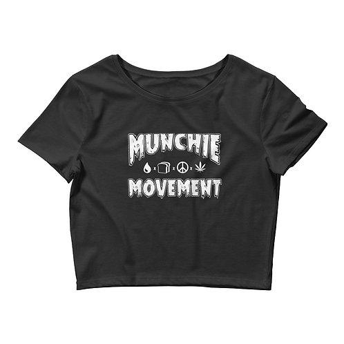 Munchie Movement (White Logo) - Women's Crop Tee