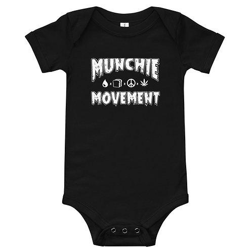 Munchie Movement (White Logo) - Baby Onesie