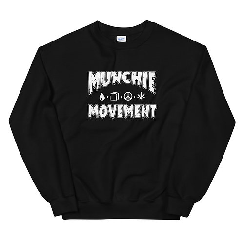 Munchie Movement (White Logo) - Unisex Sweatshirt