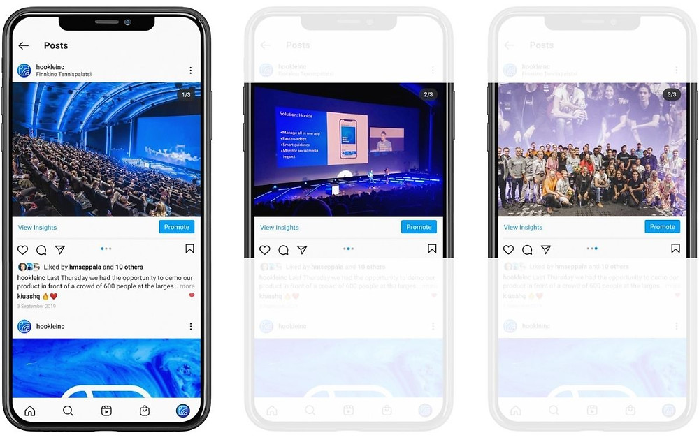 Show multiple facets of an event, product, or person - with Hookle social media manager