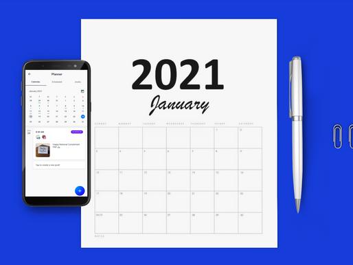 Social media content calendar 2021 for small businesses