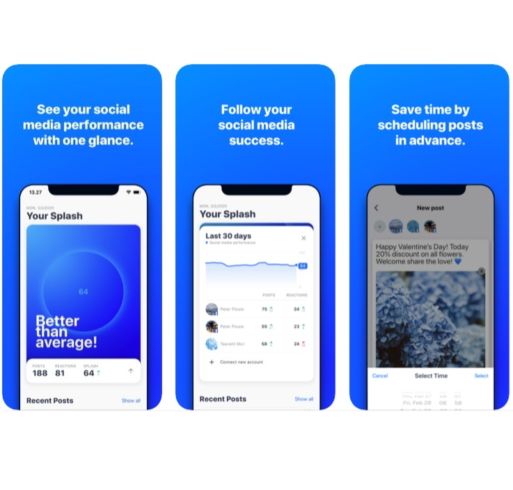 Nest social media management app for iPhone