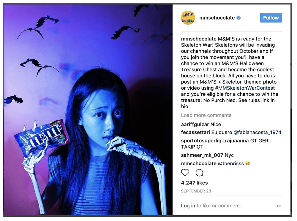 User-Generated Content example for Halloween 2021