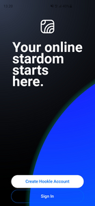 Your online stardom starts here. With Hookle. Dark mode.