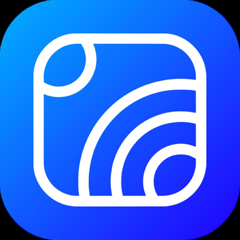 Hookle logo - blue background