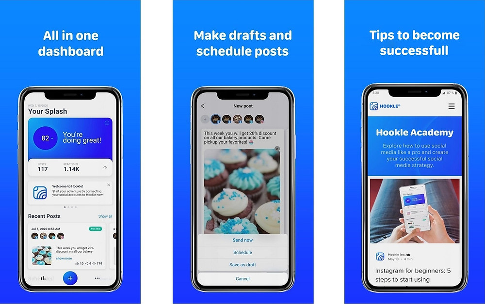 One of the Best Social Media Manager App 2021 - Hookle
