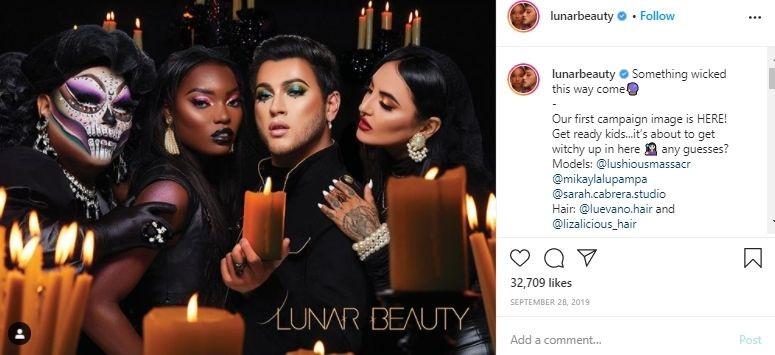 Halloween social media post examples - Lunar Beauty