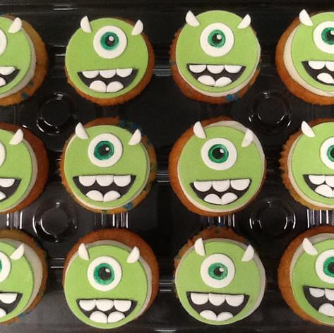 Monsters Inc Cupcakes | Moneta Moments