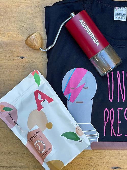 Kit Paizão: Moedor Comandante +Café 250g + Camiseta Under Pressure