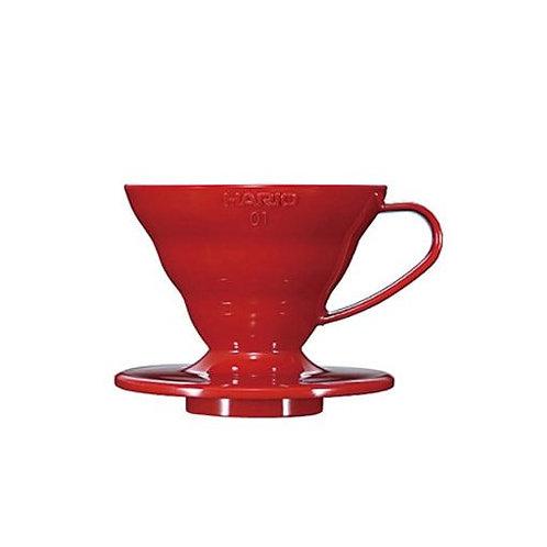 Suporte para V60 01 Plástico - Hario - Vermelho