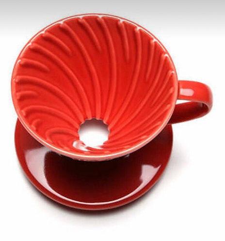 V60 01 Cerâmica - Vermelho - Hario