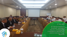 Mr. Ahmed Abdulla Al Dhanhani - Managing Director, Link Energy Est. CONFERENCE MEETING with  Jakarta Indonesia Power Electricity
