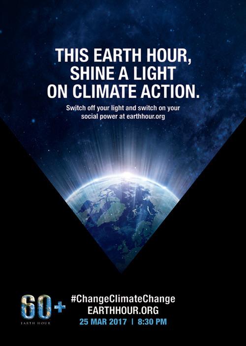 Earth Hour 2017 #changeclimatechange