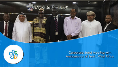 Corporate Bond Meeting  - Link Energy Est., and Ambassador of Benin, West Africa