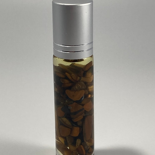 Essential Oil Fragrance Infused With Tiger's Eye Gemstones