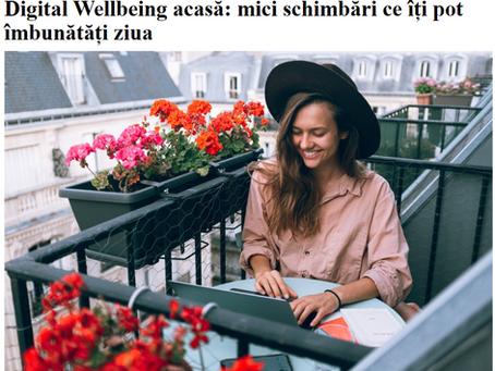 Digital Wellbeing acasă | articol Alist