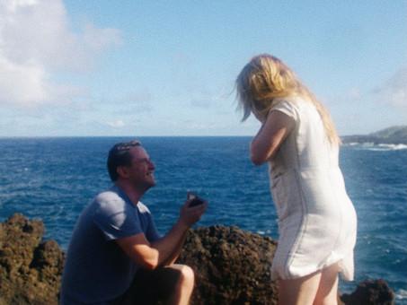 Black Sand Beach Proposal in Maui, Hawaii