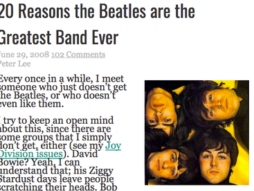 Hooks & Harmony: Why The Beatles are the Best