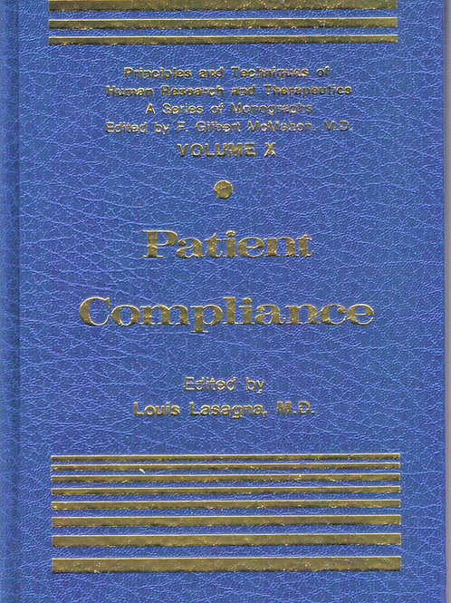 Patient Compliance (Principles and techniques of human research and therapeutics