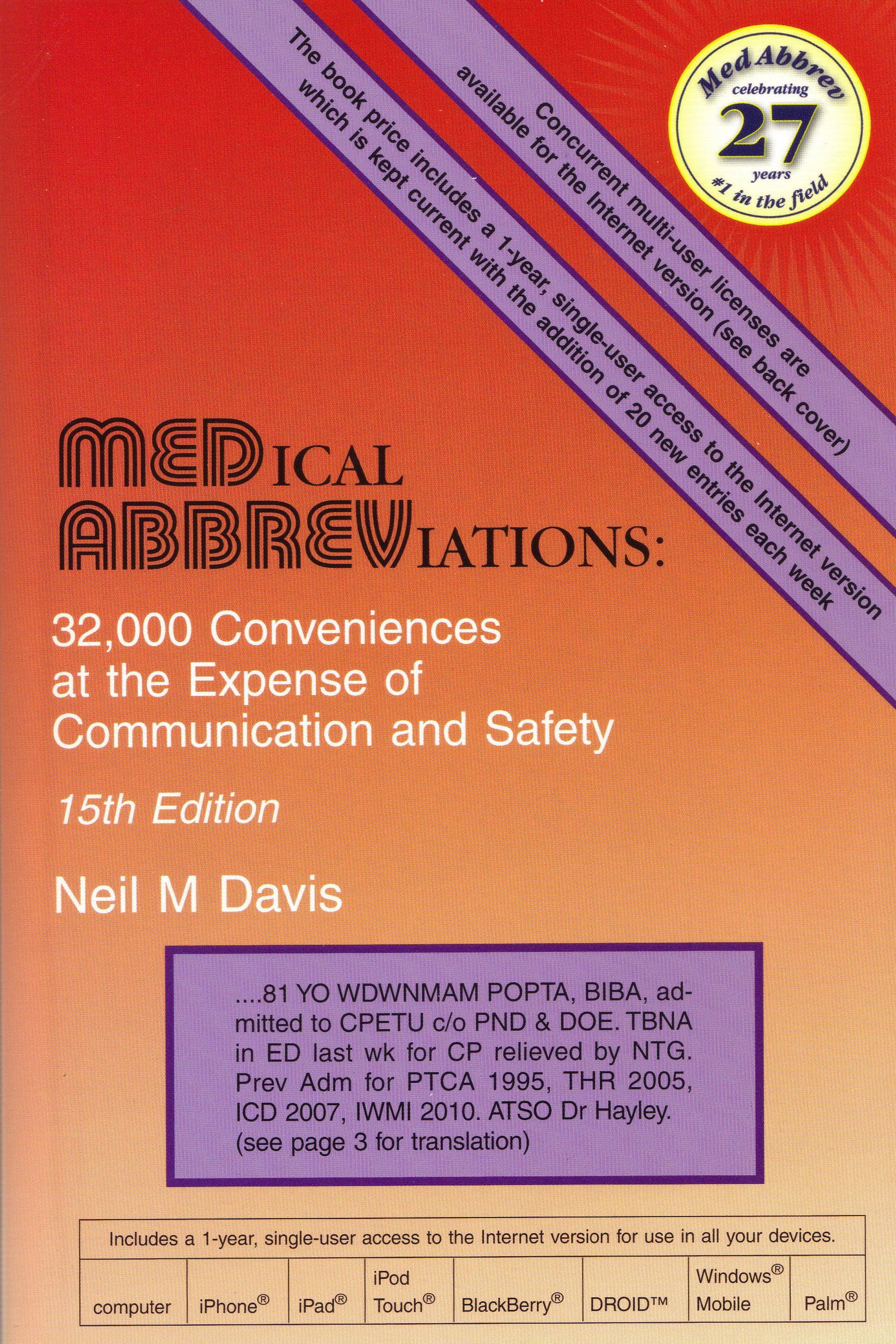 Hwbookspharmacy bookscincinnati oh877 742 7631 medical medical abbreviations 15th ed biocorpaavc Image collections
