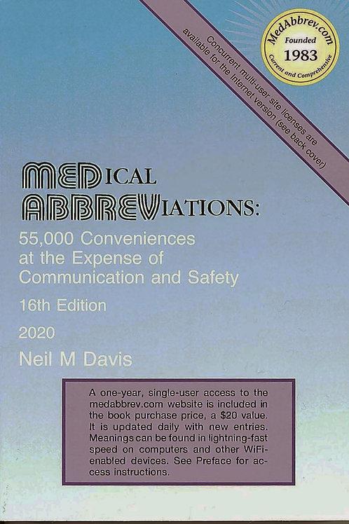 Medical Abbreviations: 16th Edition