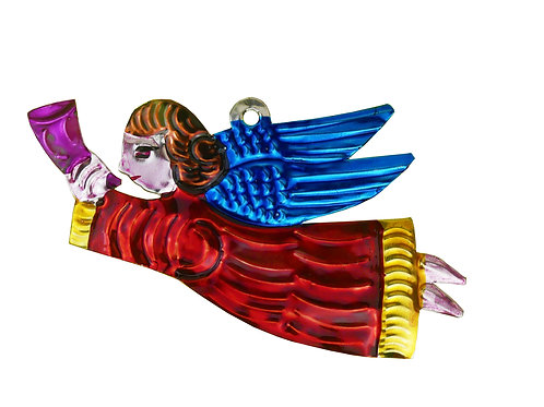 Angel  Ornament Red with Horn