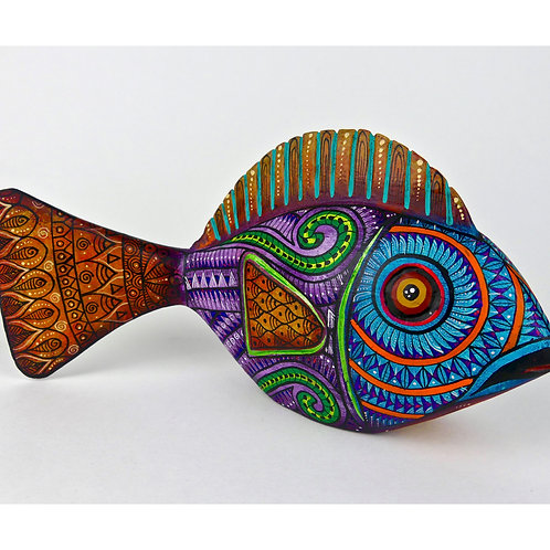 FISH Oaxacan Wood Carving, Alebrije