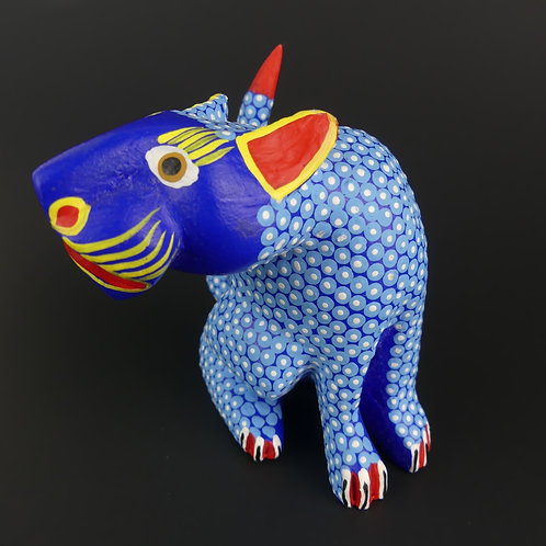 CAT Oaxacan Wood Carving, Alebrije Margarito Melchor Fuentes