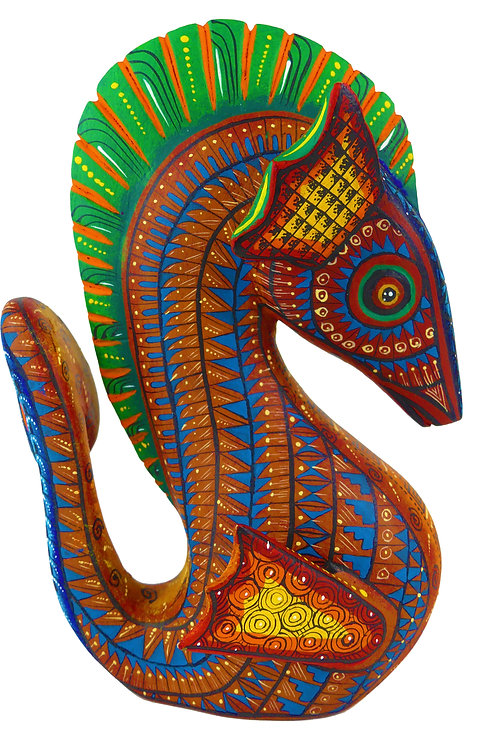 SEAHORSE Oaxacan Wood Carving, Alebrije