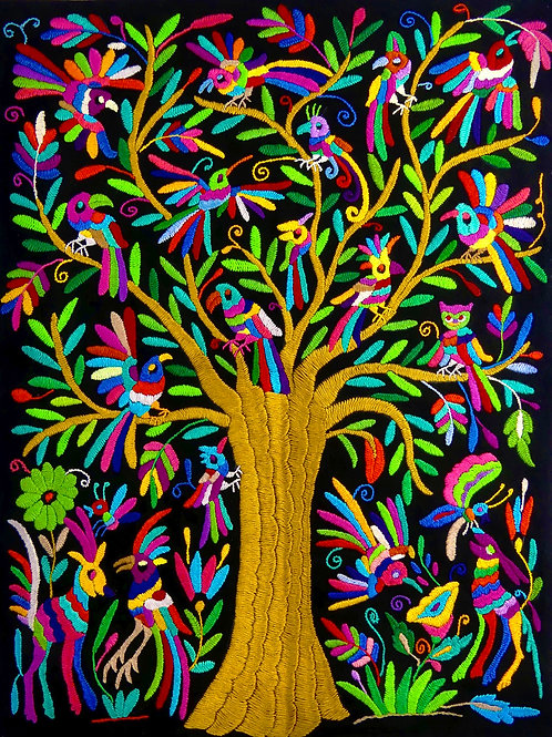 TREE OF LIFE Otomi Embroidered Wall Hanging