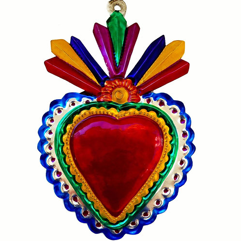 Heart Milagro with Scalloped Edges