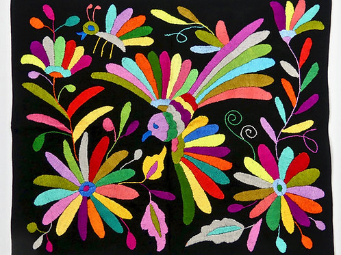 DOVE Embroidered  Otomi Wallhanging