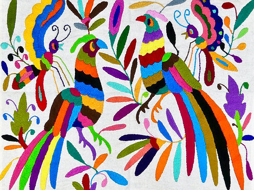 GROUSE Embroidered  Otomi Wallhanging