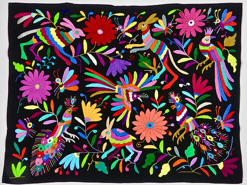 Embroidered  Otomi Wallhanging