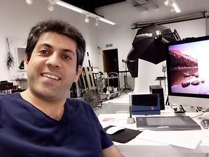 Ario Khosroshahi at work in the United Kingdom