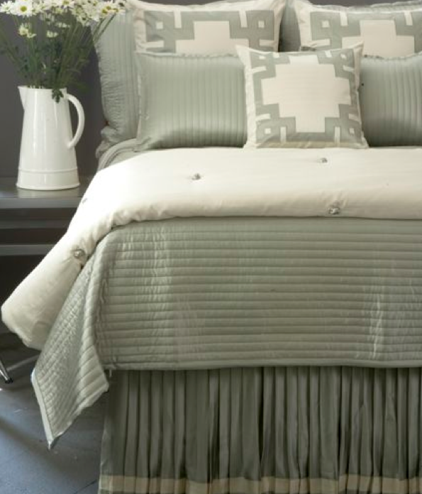 Silk Channel Quilted Coverlet