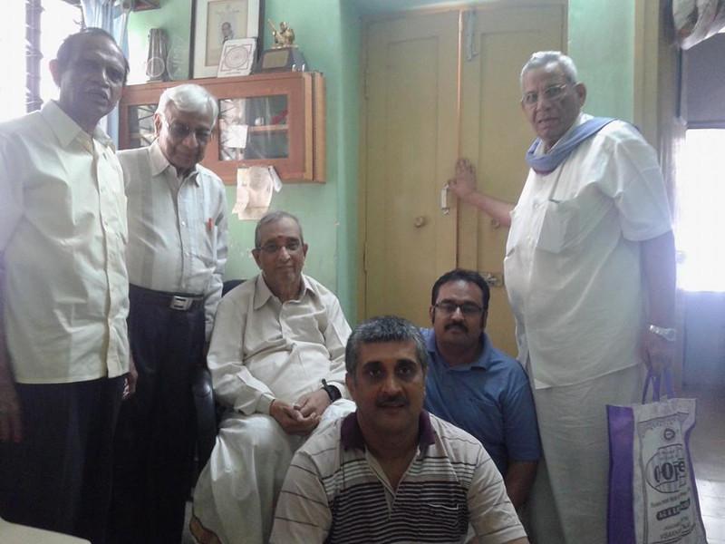 Dr. Nagendra Shastry with his gurus Padmashri Dr. R Sathyanarayana, Vid. Akella Mallikarjuna Sharma and Vid. R S Nandakumar