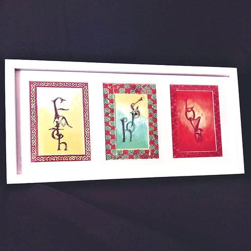 'Faith, Hope, Love' Framed Print