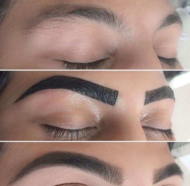 Eyebrow tint and wax