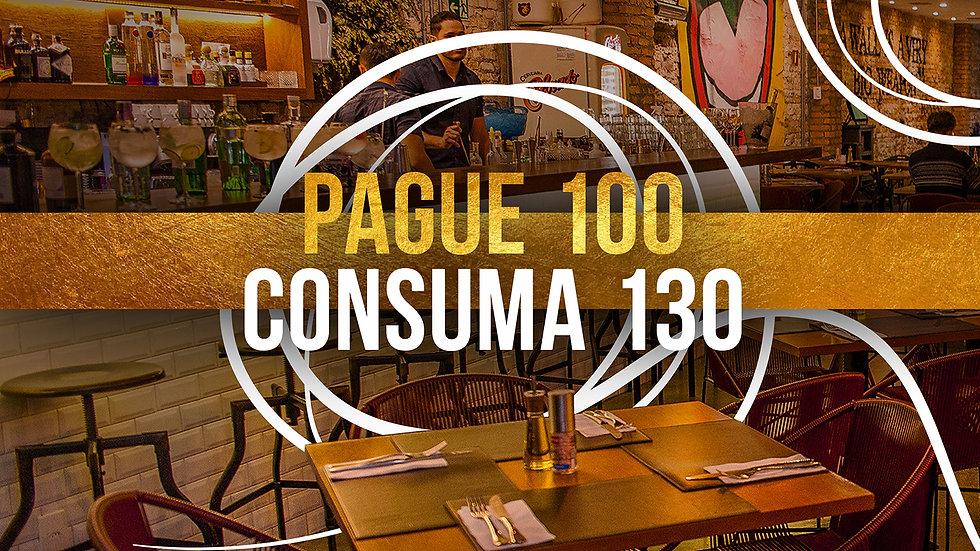 Vale R$130 de Consumo (Voucher)