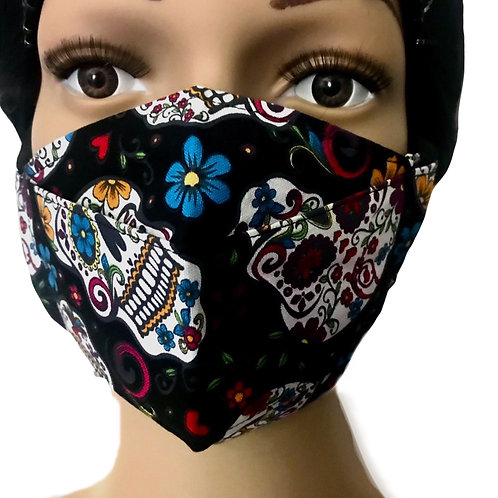 The Skulls X Flowers Face Mask
