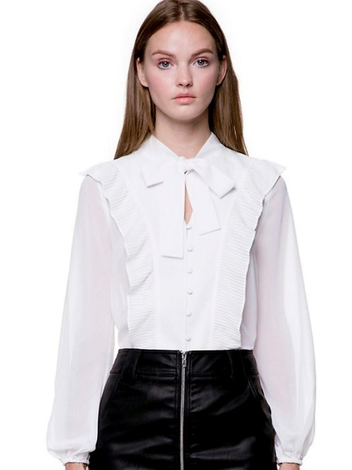 Off White Pussy Bow Blouse