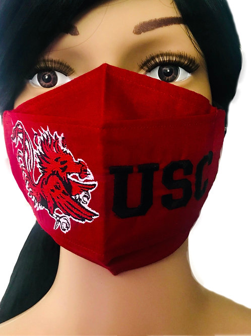 The University of South Carolina Gamecock Garnet Face Mask