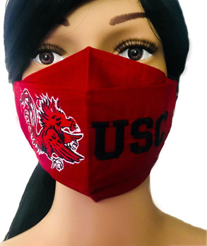 The University of South Carolina Face Mask in Garnet