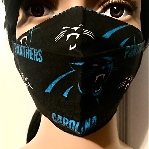The Carolina Panthers Logo Face Mask