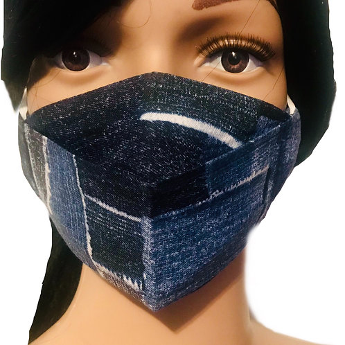 The Denim Patchwork Face Mask