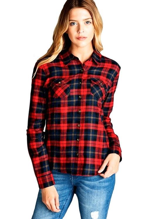 Red Tartan Plaid Shirt