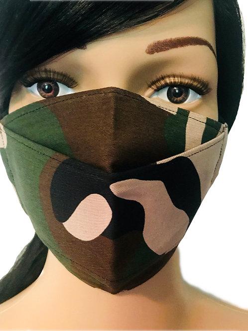 The Retro Military Camo Face Mask